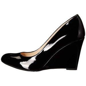 Jessica Simpson Black Patent Slim Wedges